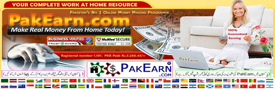 PakEarn.com Students Payment Proofs 100% Guaranteed Earning
