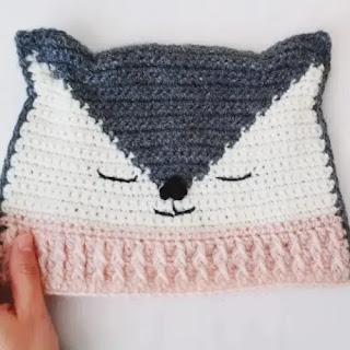 Gorro Lobo a Crochet