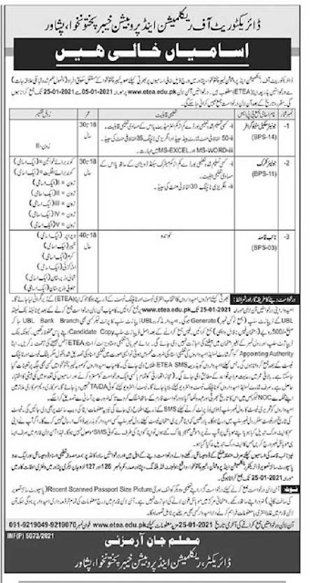 directorate-of-reclamation-probation-jobs-2021-advertisement