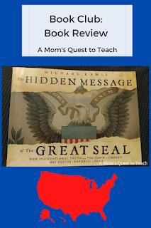 book cover of The Hidden Message of the Great Seal; clipart of the US