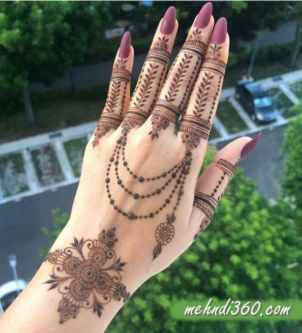 Fresh Arabic Henna Design Back Hand