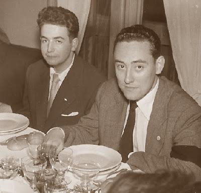 Los ajedrecistas Lucien Francino y Francisco Ballbé en 1955