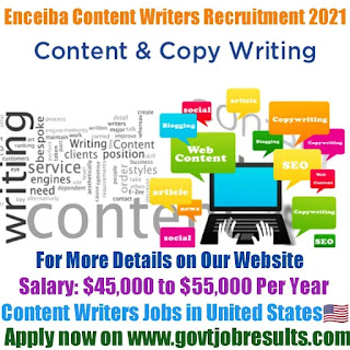 Enceiba Content Writer Recruitment 2021-22