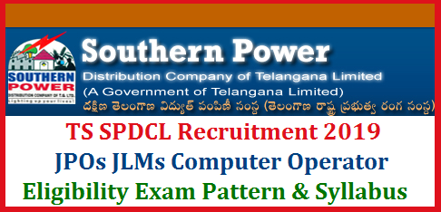 TSSPDCL Telangana Southern Power Distribution Company has come forward with Good news for unemployed youth in the State. TS SPDCL announced Recruitment Notification Schedule to fill up Junior Lineman Junior Personel Officer JPOs and Computer Operator jobs. Detailed Notification will be made available on or after 10th october, 2019. Interested eligible aspirants of TSSPDCL jobs may know the starting of Online Application, Last date to Submit Application form Downloading of Hall Tickets and Exam dates in the detailed Notification. After have gone through the Telangana SPDCL Detailed Notification, Confirming eligible to the Jobs, candidates have to Submit Online Application Form at official websites www.tssouthernpower.com or www.tssouthernpower.cgg.gov.in ts-spdcl-junior-lineman-jpo-jr-computer-operator-eligibility-qualifications-exam-pattern-syllabus-download