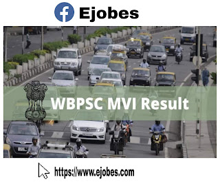 WBPSC  MVI Result 2020 - Motor Vehicle Inspector Cuttoff,Merit List