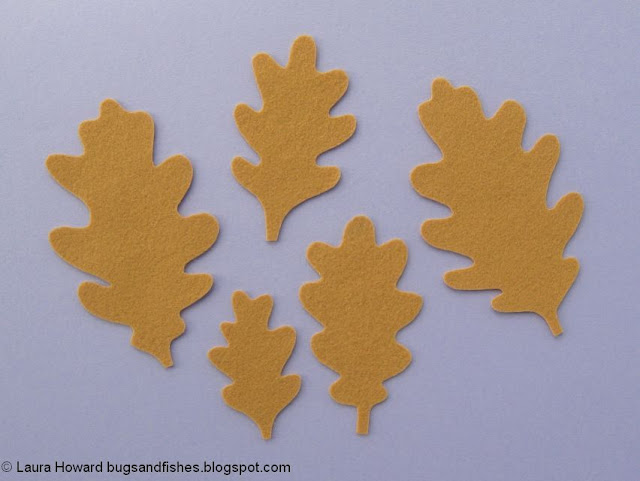 felt oak leaves