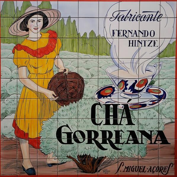 Azulejos publicitarios de Chá Gorreana de principios del S.XX