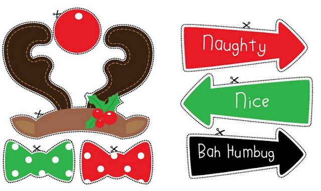 Rudolph y Señales: Photo Booth de Navidad para Imprimir Gratis.