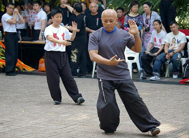 Tai Chi Chuan at Kung Fu Corner, Kowloon Park, Hong Kong