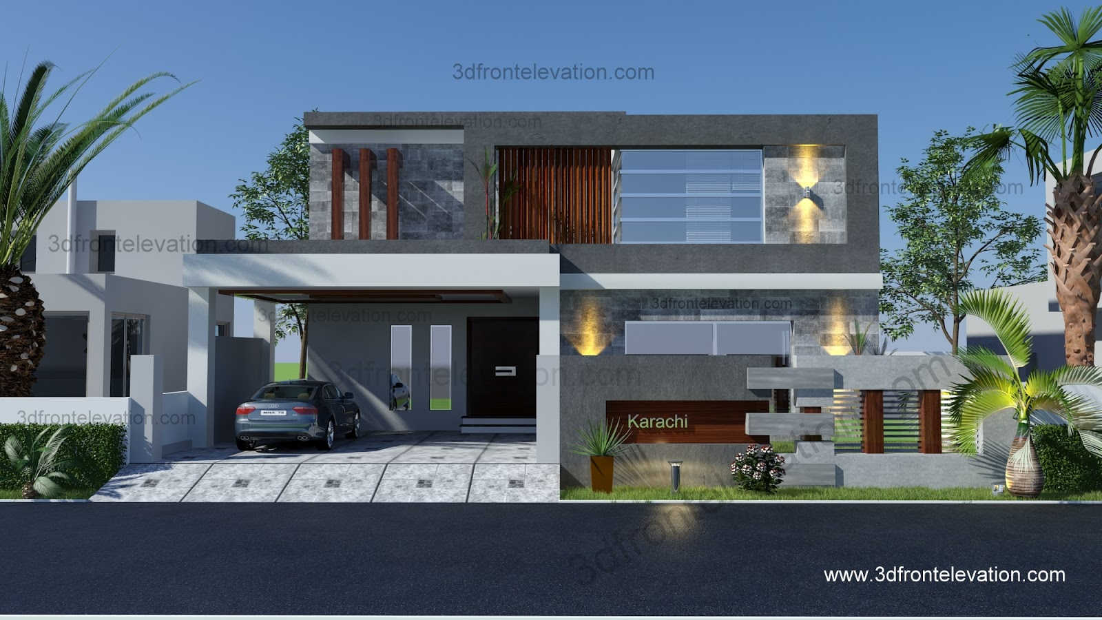 Front Elevation Of House In Karachi : D front elevation portfolio