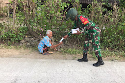 Berbagi Buka Puasa Dan Masker Dilakukan Koramil Karangdowo