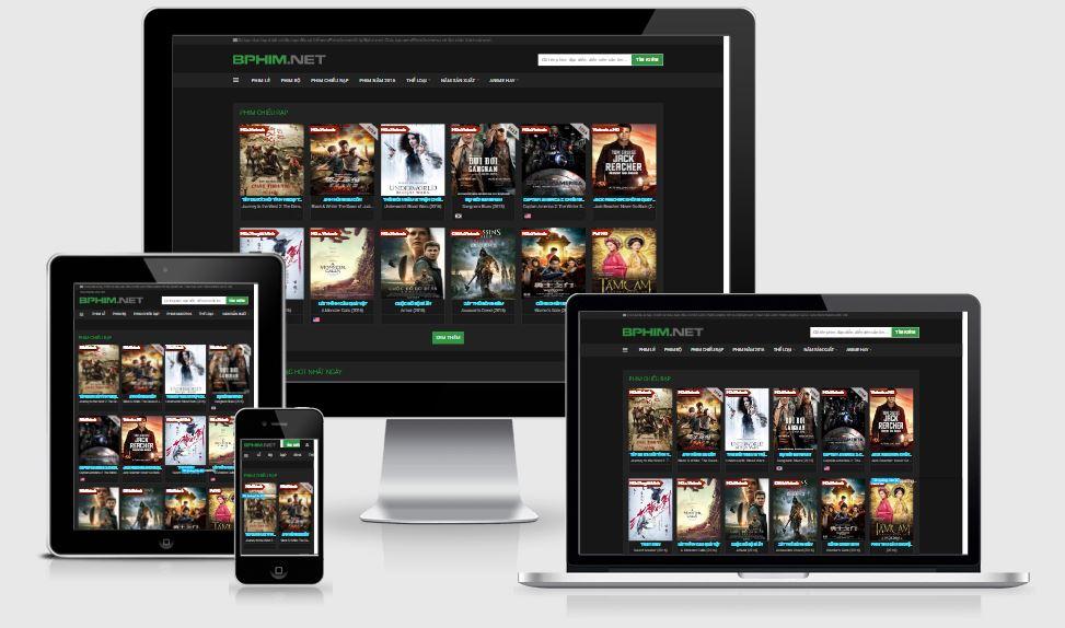 Template Blogspot BPhim - Mẫu giao diện phim đẹp 2019