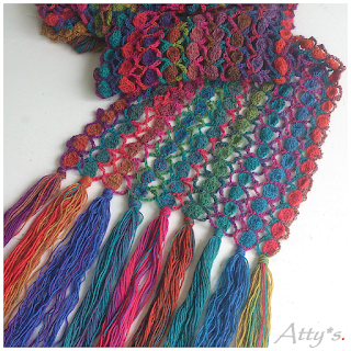Crochet Candy Scarf Pattern