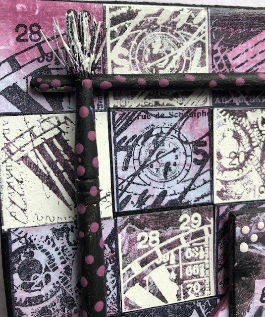 PaperArtsy HP1902 - tiled canvas - by Nikki Acton