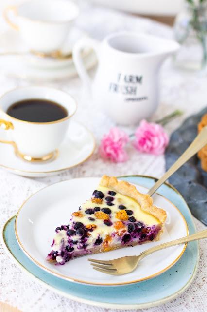 cloudberry blueberry tart