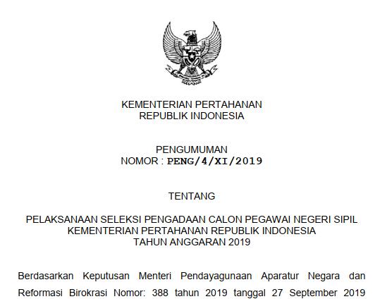 rincian formasi cpns kemenhan 2019 tomatalikuang.com