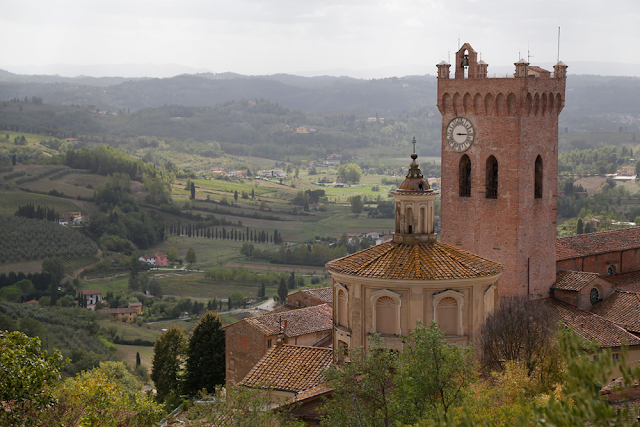San Miniato cathedral and Tower of Matilde, Tuscany, Italy