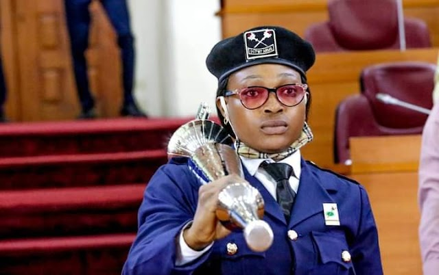 Here Comes The First Female To  Carry The Mace In Lagos House of Assembly.