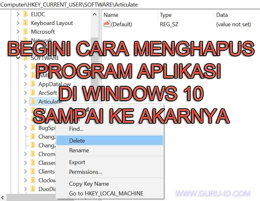 gambar cara Menghapus Aplikasi Sampai Bersih Di Windows 10