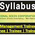 Syllabus-National Seed Corporation Limited (NSCL)