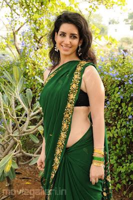 Tamil Actress in Green Saree Sexy Pose