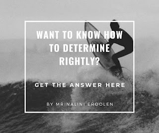 How To Determine Rightly?
