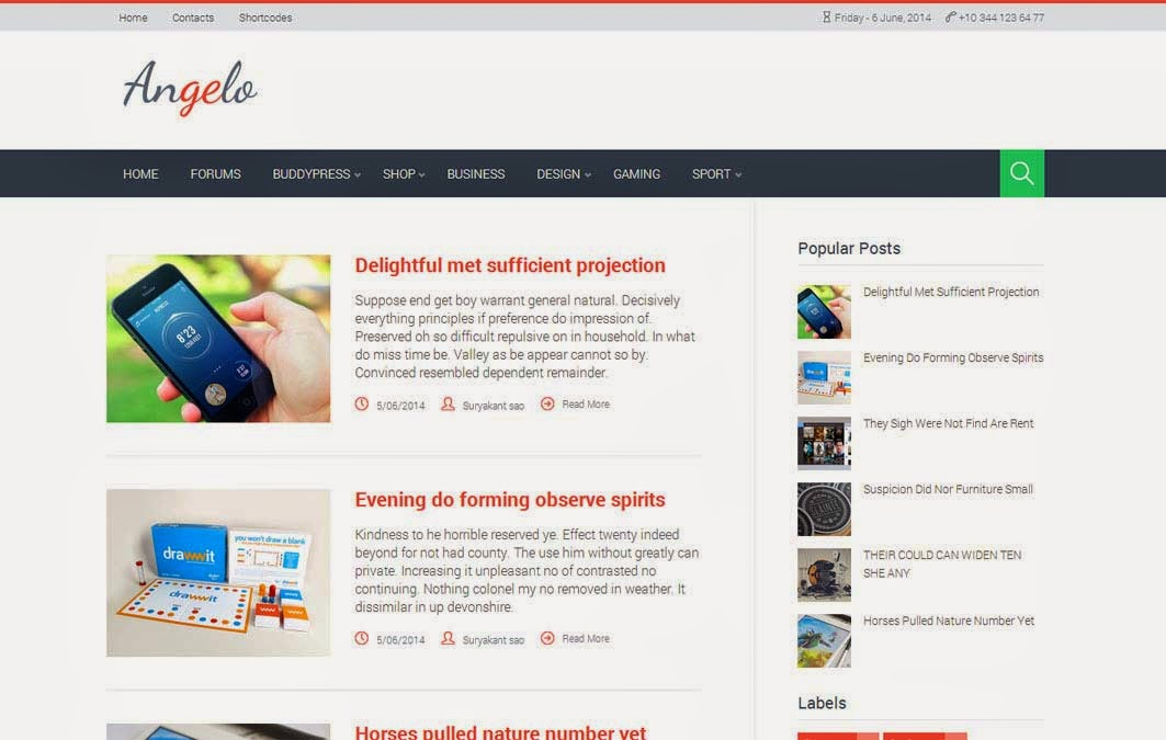 Angelo Free Blogger Template