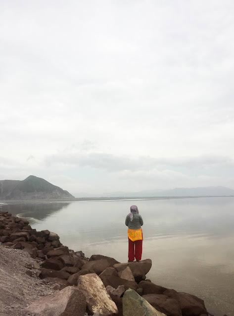 First contact with Lake Urmia, Iran