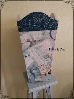 d0af0b671 Se trata de un paragüero de madera, que he decorado con varias técnicas, os  cuento.
