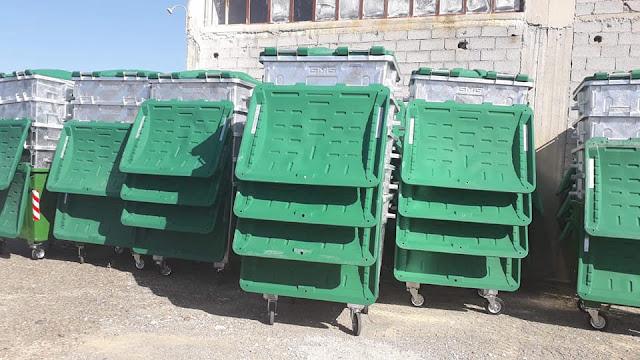Παρελήφθησαν οι νέοι κάδοι απορριμμάτων στο Δήμο Επιδαύρου