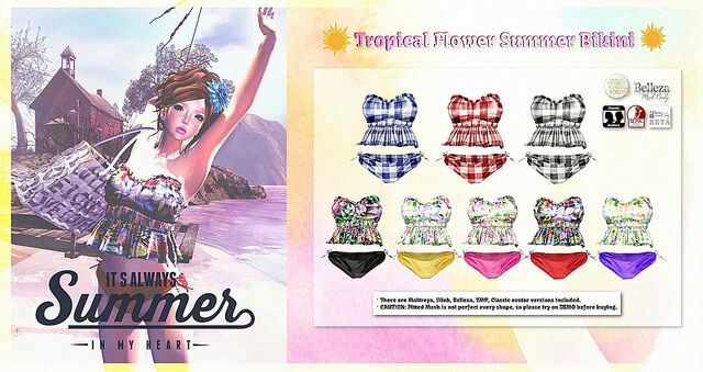 {amiable}Tropical Flower summer Bikini@the Chapter Four(50%OFF SALE).