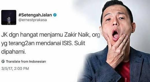 Beda Sambutan  Zakir Naik dan Ernest di Makassar