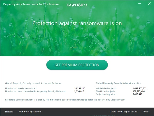 Công cụ Kaspersky Anti-Ransomware cho doanh nghiệp