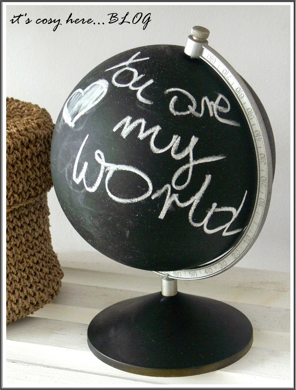 Leave a note... o tablicowym globusie...