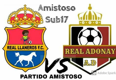 APURE: Escuela AD Real Adonay del Alto Apure en amistoso Real Llaneros Fc de Arauca-Colombia.