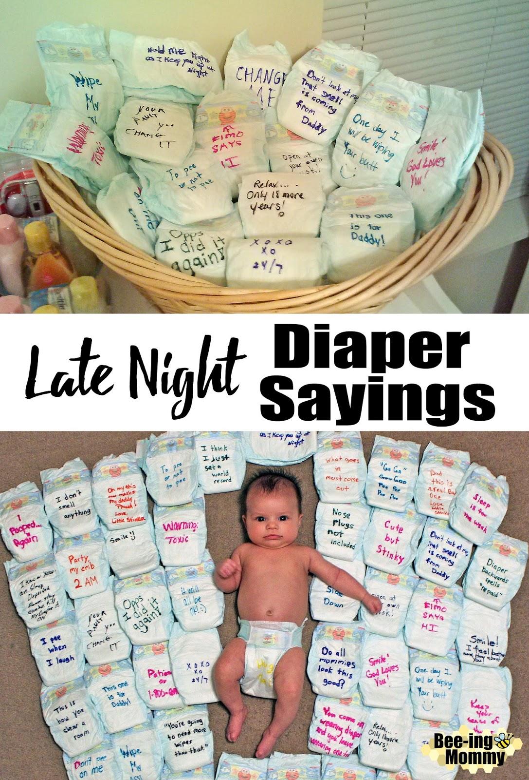 Funny Diaper Messages : funny, diaper, messages, Night, Diaper, Sayings, Shower