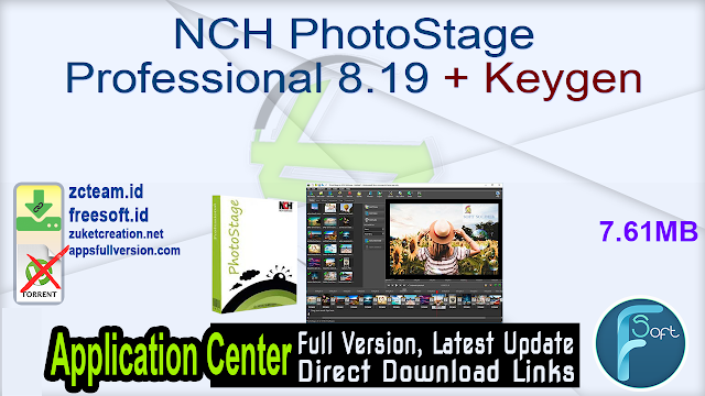 NCH PhotoStage Professional 8.19 + Keygen