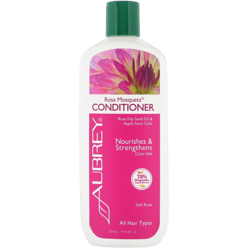 Aubrey Organics, Кондиционер Чилийская роза, энергия и увлажнение, для всех типов волос, 11 жидких унций (325 мл)