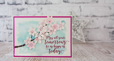 Colourful Season Cherry Blossom Card.  Buy these Stampin' Up! UK goodies here at www.bekka.stampinup.net