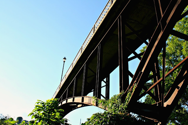 Under the Pedestrian Bridge in Galena, Illinois.