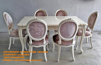Furniture duco,mebel duco jepara,furniture ruang tamu duco,mebel ruang tamu duco,furniture mebel duco putih,furniture duco putih.toko mebel jati jual mebel jepara,code A1143 meja makan duco jepara,meja makan duco french style,furniture ruang makan duco mewah