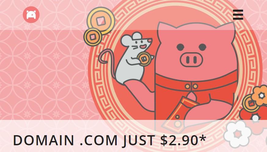 Khuyến mãi tên miền .COM giá rẻ 2.90$/năm tại Porkbun