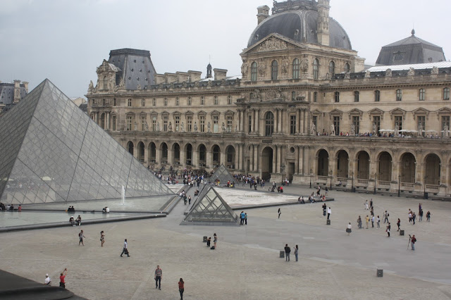 View to the outside of the Louvre