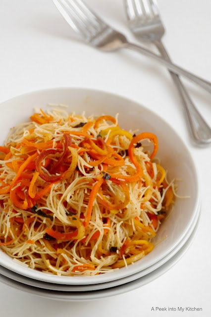 Biriyani Flavored Rice Noodles with Rainbow Carrots ~ Day 76