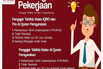 Lowongan Kerja Pengajar Tahfidz Pesantren Al Hilal Bandung
