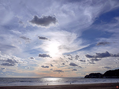 Winter seascape: Yuigahama-beach