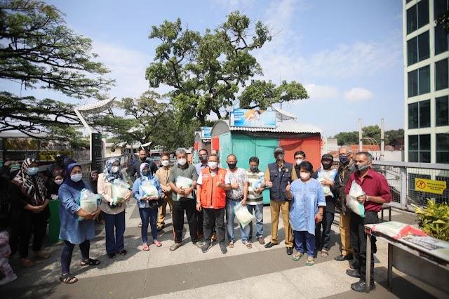 PKL Binaan Pemkot Bandung Dapat Bantuan Beras Dari Kemensos RI