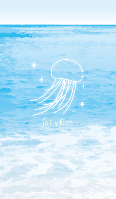 Jellyfish in sea