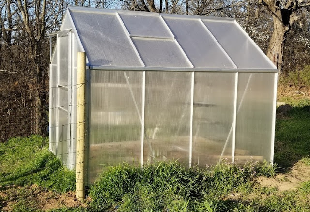 This 6'x8' greenhouse kit was pretty easy to assemble.
