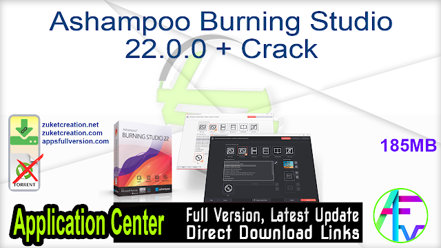 Ashampoo Burning Studio 22.0.0 + Crack